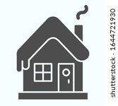 snowy house solid icon. winter... | Shutterstock .eps vector #1644721930