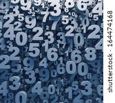 abstract 3d numbers background... | Shutterstock . vector #164474168