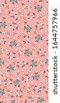 seamless floral batik pattern.... | Shutterstock .eps vector #1644757966