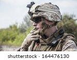 us marine smoking a cigarette