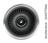 jet engine front view isolated... | Shutterstock . vector #164477066