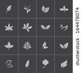 vector black leaf icons set | Shutterstock .eps vector #164478074