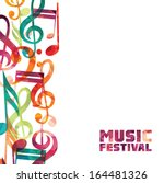 colorful music background.  | Shutterstock .eps vector #164481326