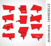 Set Of Red Origami Banners....