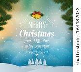 merry christmas landscape.... | Shutterstock .eps vector #164482073