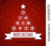 white christmas ribbon with... | Shutterstock .eps vector #164483474