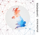 abstract vector map of united... | Shutterstock .eps vector #1644840406