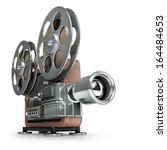 old fashioned cinema projector... | Shutterstock . vector #164484653