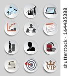 set  business chart icon