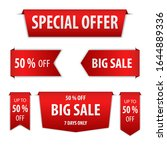 red banner special offer and... | Shutterstock .eps vector #1644889336