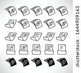 grade result or exam result...   Shutterstock .eps vector #1644909163