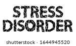 stress disorder. black isolate... | Shutterstock .eps vector #1644945520