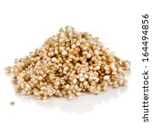 Stock photo quinoa seed grain close up macro shot isolated on a white background 164494856