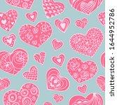 romantic seamless vector... | Shutterstock .eps vector #1644952786