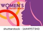 women's history month.... | Shutterstock .eps vector #1644957343