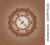 satelite icon inside badge with ... | Shutterstock .eps vector #1644974116