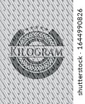 kilogram silver shiny badge.... | Shutterstock .eps vector #1644990826