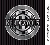 rendezvous silvery emblem or... | Shutterstock .eps vector #1645005523
