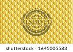 reserved golden emblem or badge.... | Shutterstock .eps vector #1645005583