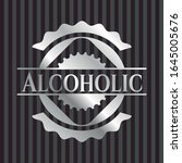 alcoholic silvery emblem or... | Shutterstock .eps vector #1645005676