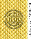 tribe shiny golden badge.... | Shutterstock .eps vector #1645005733