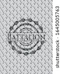 battalion silver color badge or ... | Shutterstock .eps vector #1645005763