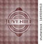 juvenile red polygonal badge.... | Shutterstock .eps vector #1645034413