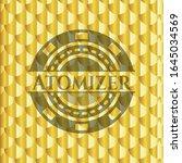 atomizer golden badge or emblem.... | Shutterstock .eps vector #1645034569