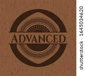advanced badge with wood... | Shutterstock .eps vector #1645034620