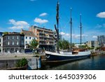 Ship Moored In Willemdock In...