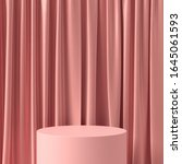 abstract pink podium for... | Shutterstock . vector #1645061593
