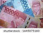 money indonesian rupiah... | Shutterstock . vector #1645075183