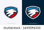 eagle head sport badge logo | Shutterstock .eps vector #1645096333