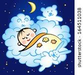sleeping baby | Shutterstock .eps vector #164511038