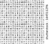 seamless 100 doodle business... | Shutterstock .eps vector #164511296