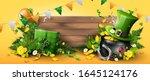 st. patrick's day header or... | Shutterstock .eps vector #1645124176