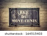 traditional paris plaque with... | Shutterstock . vector #164515403