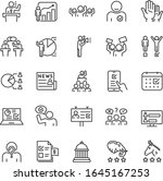 elections  voting  icon set.... | Shutterstock .eps vector #1645167253