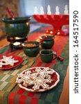 Gingerbread cookies and the Swedish Christmas tradition glogg. - stock photo