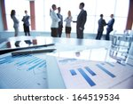 close up of business electronic ... | Shutterstock . vector #164519534