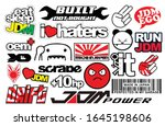 japanese car decals  and... | Shutterstock .eps vector #1645198606