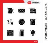 creative set of 9 universal... | Shutterstock .eps vector #1645212376
