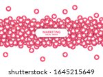 flow heart icons background ... | Shutterstock .eps vector #1645215649