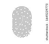 id app icon. fingerprint vector ... | Shutterstock .eps vector #1645229773