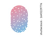 id app icon. fingerprint vector ... | Shutterstock .eps vector #1645229776