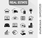 real estate icon  | Shutterstock .eps vector #164524520