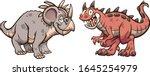 styracosaurus and carnotaurus... | Shutterstock .eps vector #1645254979