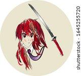 Anime Girl  Warrior Girl With...