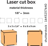 laser cut wood laser cut...   Shutterstock .eps vector #1645257640
