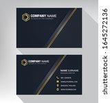 business card in modern luxury...   Shutterstock .eps vector #1645272136